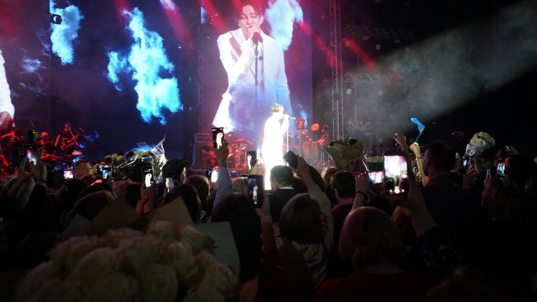 Performance by Dimash Kudaibergen in Ekaterinburg