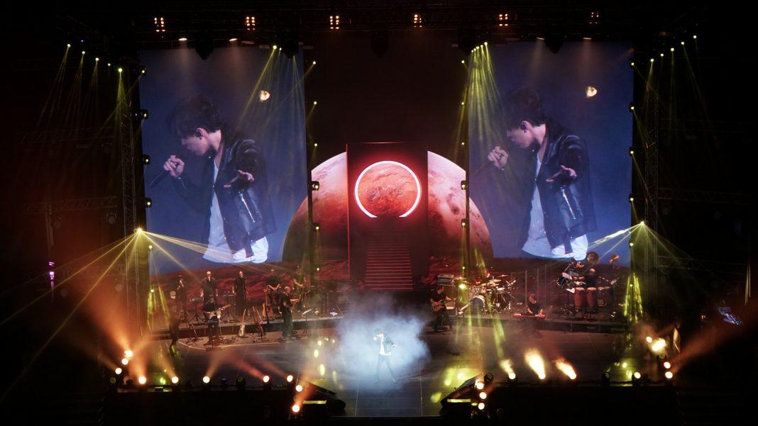 Performance by Dimash Kudaibergen in Ekaterinburg
