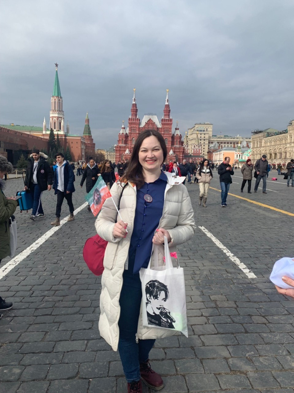 Dimash's fans marched on the Red Square in Moscow