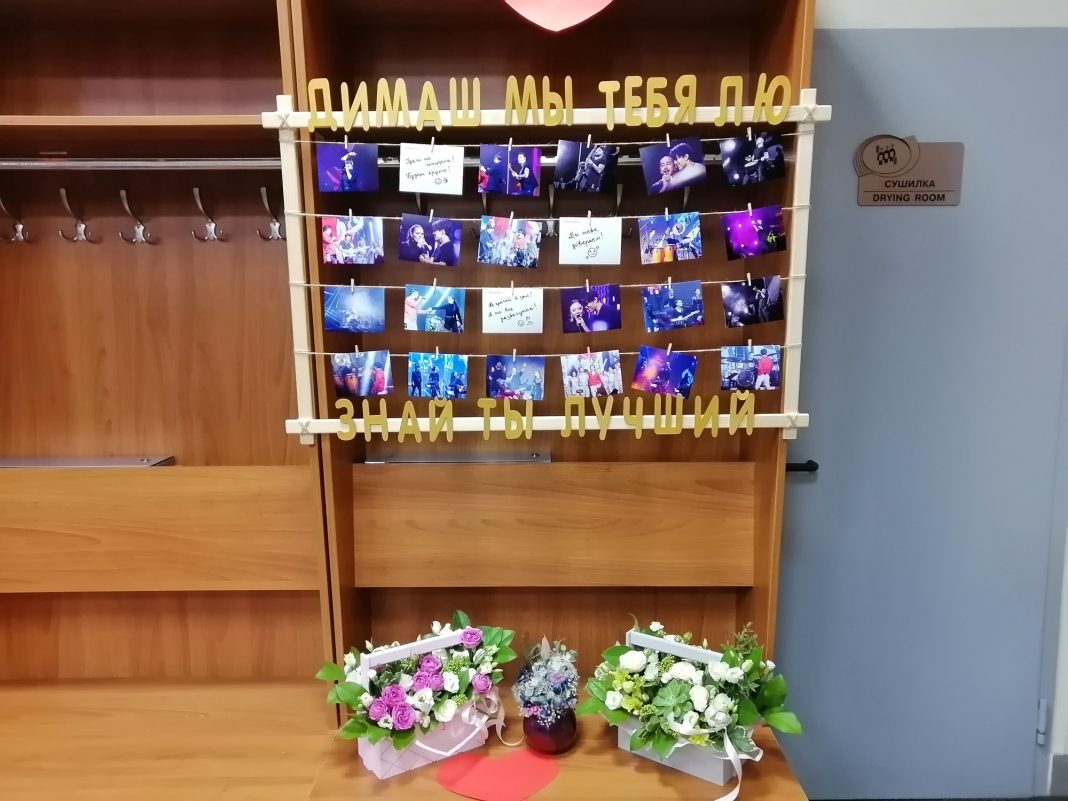 Dimash's fans decorate the artist's dressing room before every concert