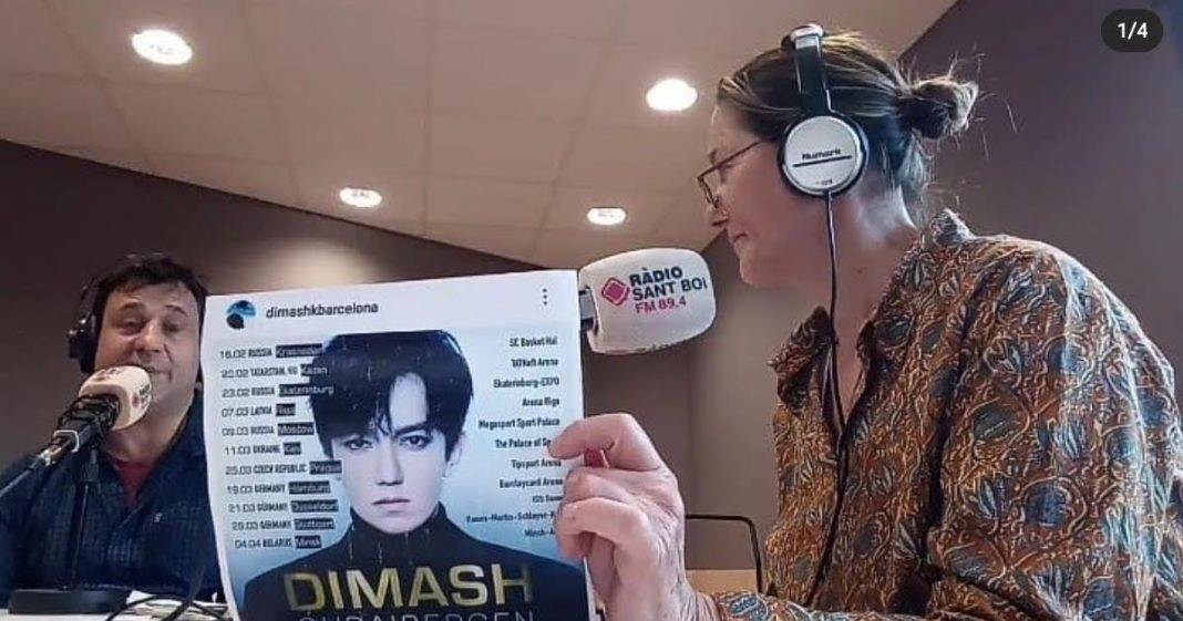 Dimash's songs on Barcelona radio